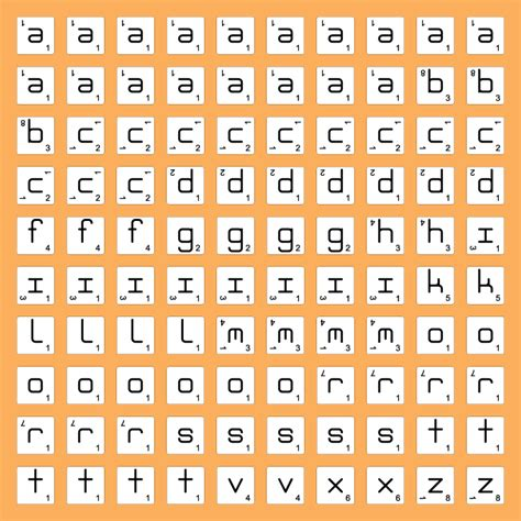 how many tiles are there in scrabble ambigrammic letter tiles