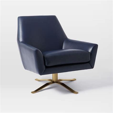 swivel c chair lucas leather swivel base chair west elm