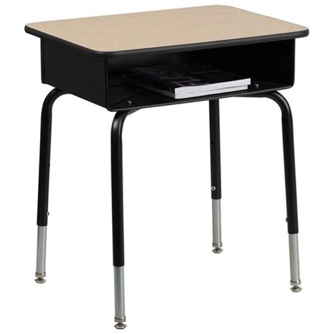 students desk flash furniture student w open front book box classroom