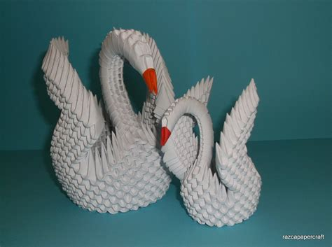 3d origami razcapapercraft how to make 3d origami swan model3