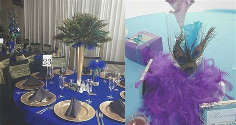 peacock themed venue decorations for your quince