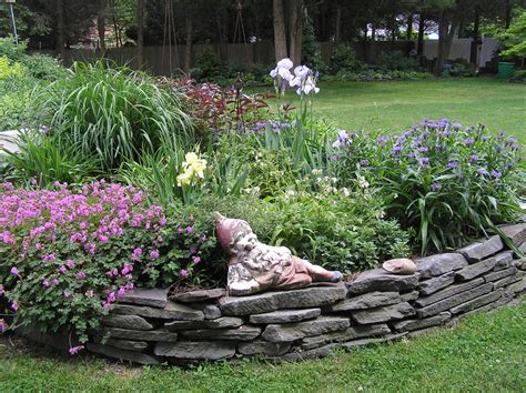 garden bed rocks country gardens raised beds edging materials