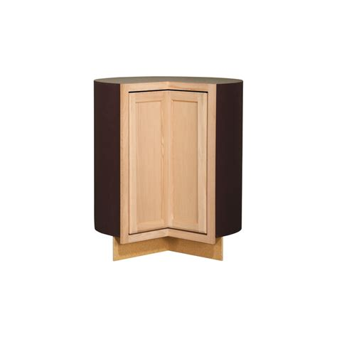 lowes cabinets unfinished shop kitchen classics 35 in x 36 in x 23 75 in unfinished oak lazy susan base cabinet at lowes