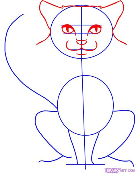 cat step by step how to draw cats step by step pets animals free