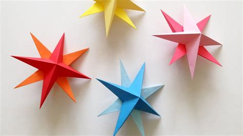 decorations for to make with paper diy hanging paper 3d tutorial for birthday