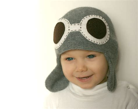 knit hats for toddlers pilot hat for child knit hat aviator hat with