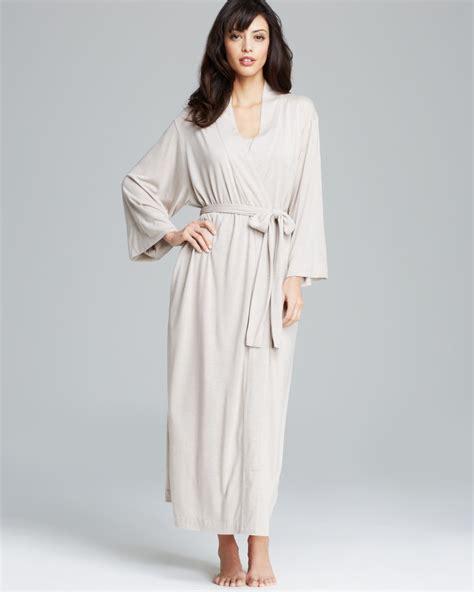 knit robe natori shangri la knit robe in beige lyst