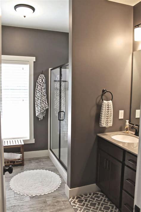 bathroom wall colors ideas master bath wall faux wood ceramic tile walls mink 6004 sherwin williams