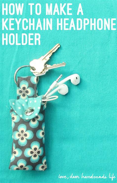 how to make a keychain with how to make a keychain ear bud pouch dear handmade