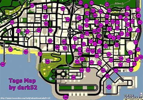 Gta San Andreas Tags Map Locations Spray Walkthrough