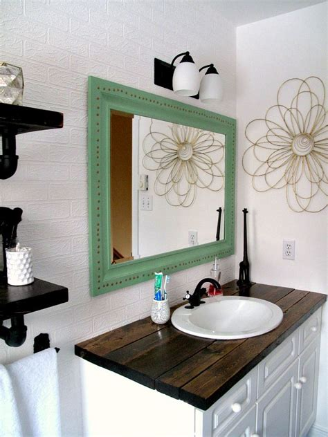 Bathroom Vanity Makeover Diy by Rustic Wood Vanity Diy Wood Counter Top Bathroom