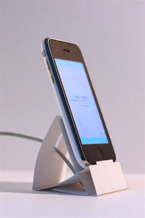 how to make a origami phone do some office origami for this cool iphone dock cult of mac