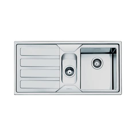 smeg kitchen sinks available the smeg mira 1 5 bowl stainless steel kitchen sink left