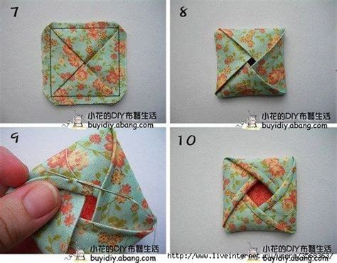 cloth origami fabric origami sewing craft room flower