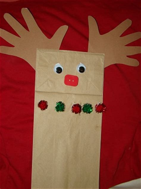 brown paper bag crafts for preschoolers paper bag reindeer puppet craft preschool