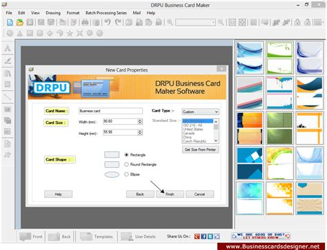 business card software screenshots of business cards designer software helps to