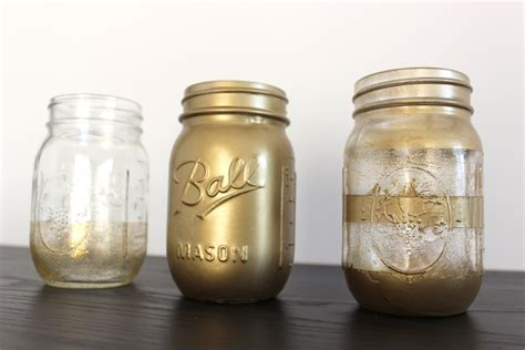spray paint jars diy add some shimmer to your home decor with