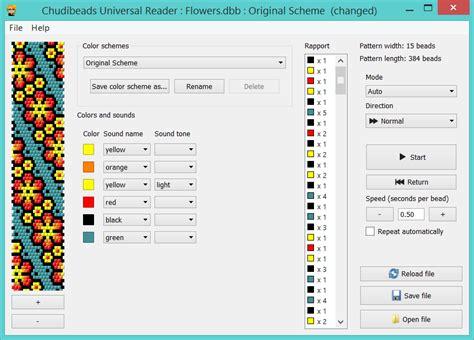 bead pattern software chudibeads beading software tutorials and patterns
