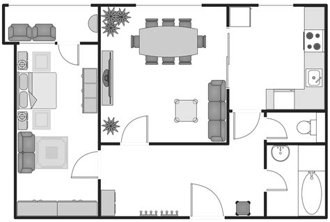 draw building plans basic floor plans solution conceptdraw