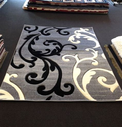 black and white modern rug gray black white transitional contemporary modern area