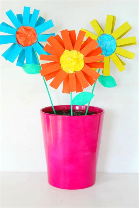 easy paper flower crafts for paper flowers kid craft easy tutorial