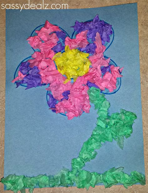 paper flower craft for children easy tissue paper flower craft for crafty morning