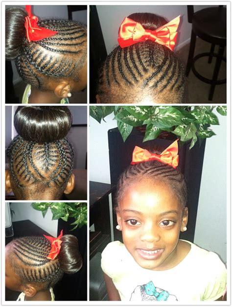 freestyle braids hairstyles little girl freestyle braids into ol fashion donut bun