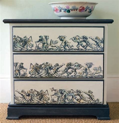 idea decoupage dishfunctional designs upcycled dressers painted