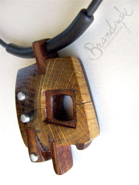 wooden jewelry wooden jewelry original handmade wooden necklace oak