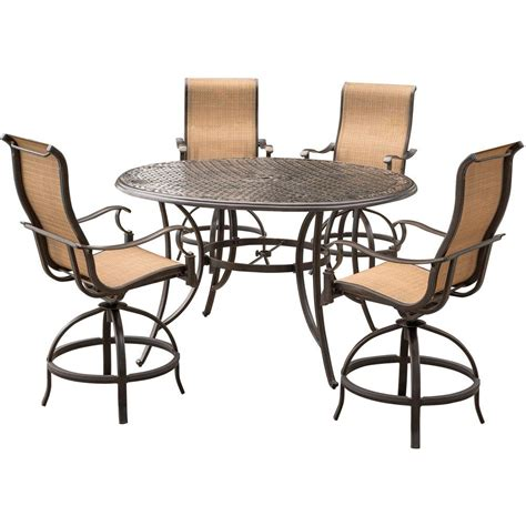 agio patio dining set agio somerset 5 aluminum outdoor bar height