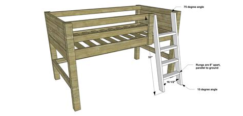 bunk bed ladder plans free diy furniture plans how to build a sized low
