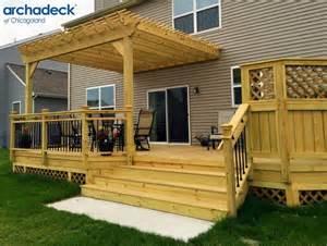 pergolas for decks 25 best ideas about wood deck designs on deck