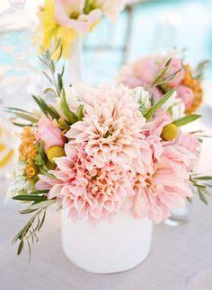 pastel pink dahlia centerpiece photo by erin hearts court via project wedding
