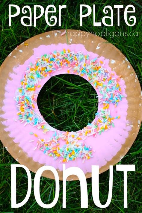 craft with paper plate paper plate donut craft for happy hooligans
