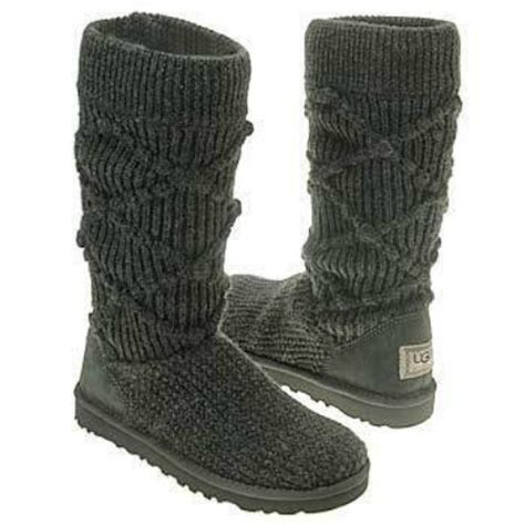 uggs grey knit boots ugg classic arglyle grey knit boots ugg boots fan