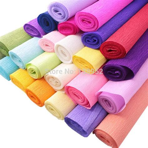 paper craft materials 250 50cm roll diy flower crepe papers handmade