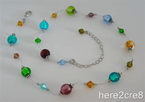glass bead jewelry patterns premier designs tessa necklace 29 multicolor glass bead