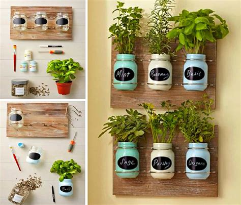jar herb garden wall 1000 images about container indoor gardens on