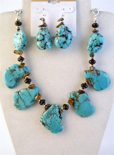 large stones for jewelry genuine large turquoise tiger eye onyx stones necklace