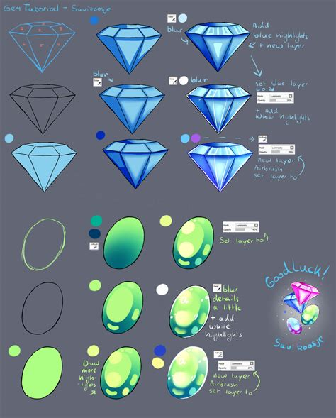 paint tool sai gem tutorial step by step gem tutorial by saviroosje on