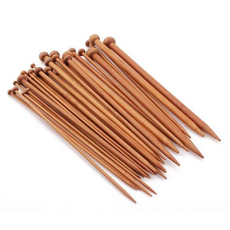 knitting with bamboo needles 36pcs carbonized bamboo knitting needles by