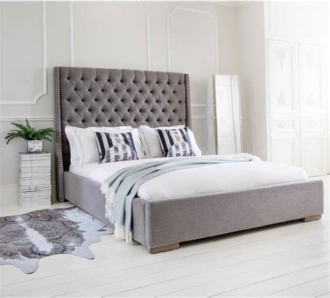 size upholstered bed studs and buttons grey upholstered bed king size beds