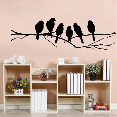 85 26cm diy wall stickers decal removable black bird tree branch home mural wall sticker