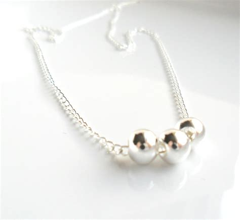 simple jewelry geometric delicate necklace floating silver everyday