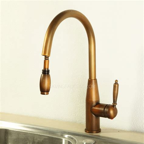 vintage kitchen faucets vintage pullout antique brass kitchen sink faucets 203 99
