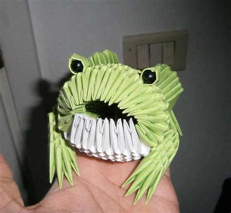 3d origami frog frog origami 3d by sfa87 on deviantart