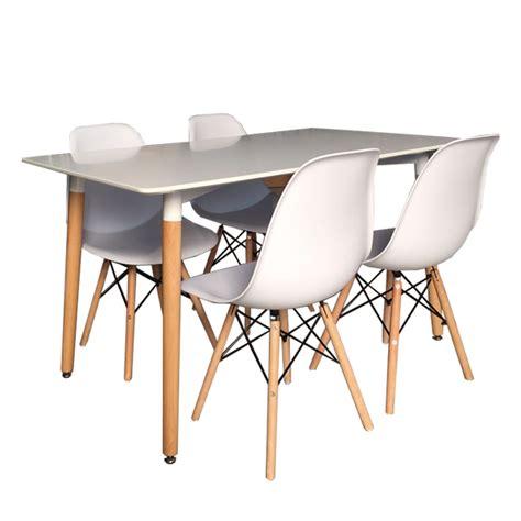 sillas y sillas conjunto mesa 4 sillas estilo n 243 rdico tiendas anticrisis