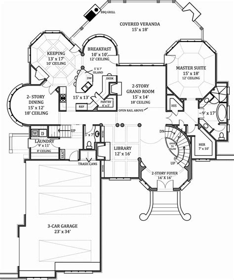 Floor Plan House hennessey house 7805 4 bedrooms and 4 baths the house