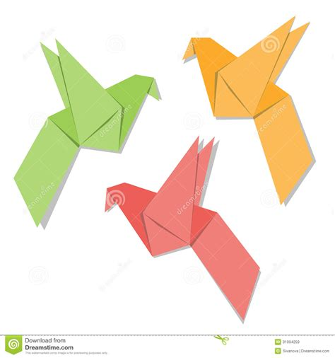 origami paper birds origami paper bird royalty free stock images image 31094259