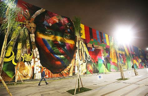 brazil painting festival artist is set to a world record with olympic